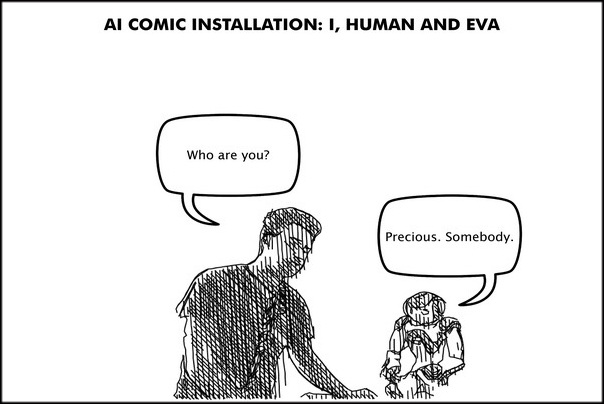 AI COMIC INSTALLATION Mar & Varvar